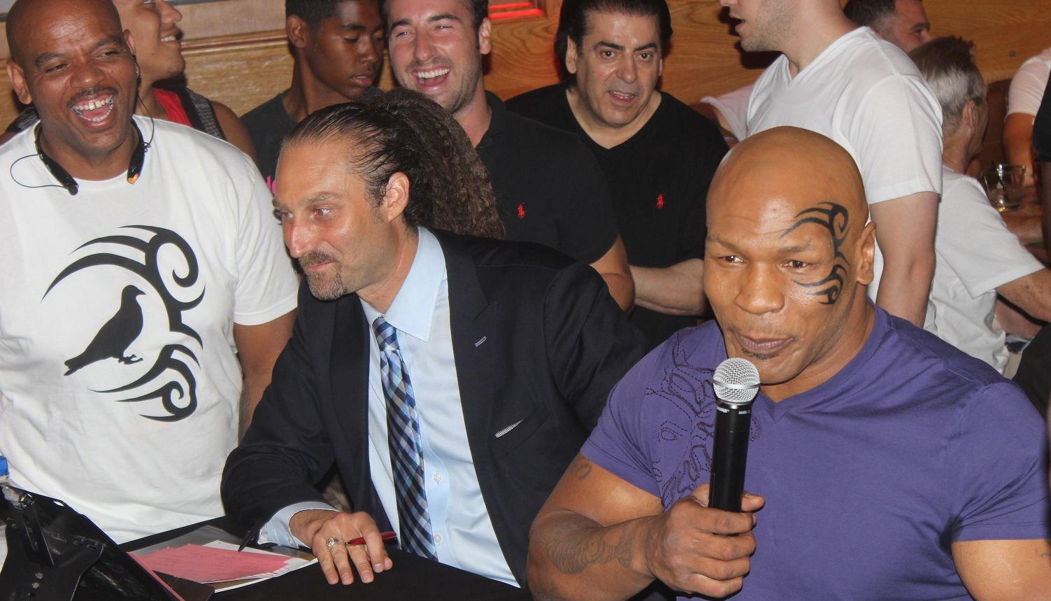 Mike Tyson at The Bite Fight Launch Party at Bounce Sporting Club