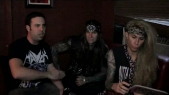 Steel Panther's Stix & Lexxi Interviewed Backstage at NYC's Irving Plaza