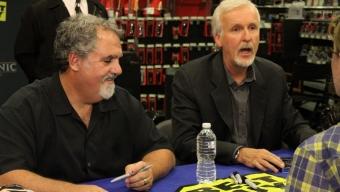 "Director James Cameron and Producer Jon Landau Celebrate a ""Titanic"" Release on Blu-Ray"