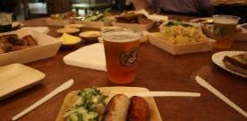 Suds and Sausage at Edible Oktoberfest