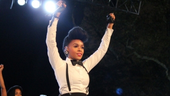 Janelle Monae, Nate Ruess Have Fun at SummerStage