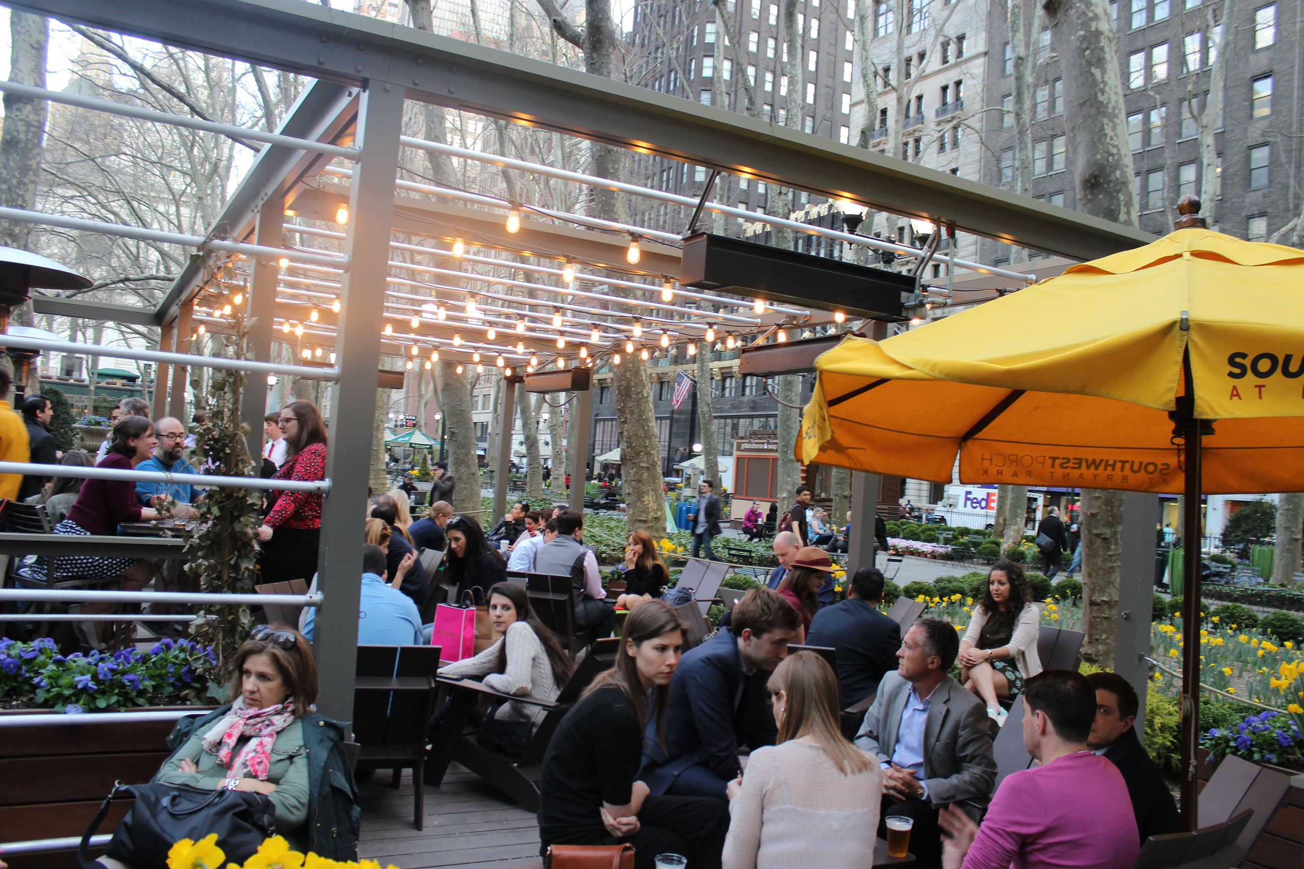 Southwest porch at bryant park midtown west drink here for Cocktail 42nd street
